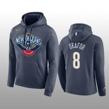 Hommes De la Nouvelle-Orléans Pelicans &8 Jahlil Okafor Navy Club Team Logo Pull-over Hoodie