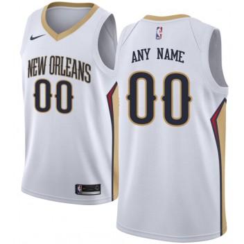 Pélicans de la Nouvelle-Orléans Nike Swingman Custom Maillot Blanc - Edition Association