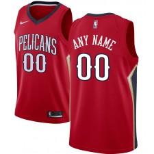 Pélicans de la Nouvelle-Orléans Nike Custom Swingman Maillot Rouge - Statement Edition
