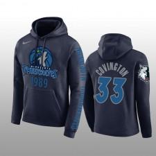 Minnesota Timberwolves &33 Robert Covington Navy Pullover Hoodie Hommes