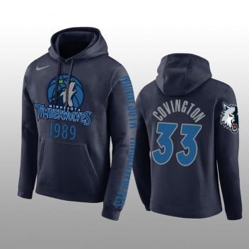 Minnesota Timberwolves #33 Robert Covington Navy Pullover Hoodie Hommes