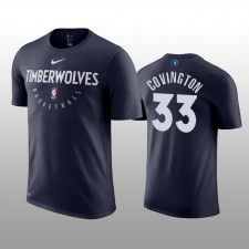 Minnesota Timberwolves &33 Robert Covington Practice Legend Performance T-shirt Hommes - Marine