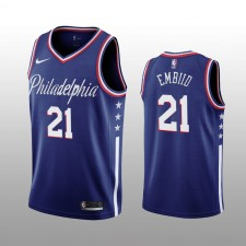 Joel Embiid 19-20 Philadelphia 76ers Nike Hommes Navy City Edition Maillot