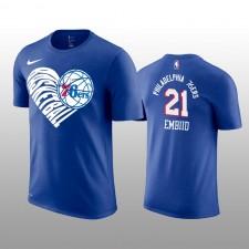 Joel Embiid &21 Philadelphia 76ers Royal Forever Love Performance T-chemise