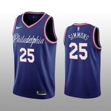 Ben Simmons 19-20 Philadelphia 76ers Nike Hommes Navy City Edition Maillot