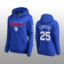 76ers de Philadelphie femmes &25 Ben Simmons High Class Pullover Hoodie - Royal