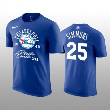 Ben Simmons Philadelphia 76ers Royal représentation T-chemise