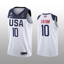Usa Team Jayson Tatum Blanc Maillot 2019 FIBA Basketball World Cup