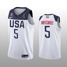 USA Team Donovan Mitchell Blanc Maillot 2019 FIBA Basketball World Cup