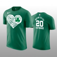 Gordon Hayward &20 Boston Celtics Vert Love Basketball Performance T-chemise
