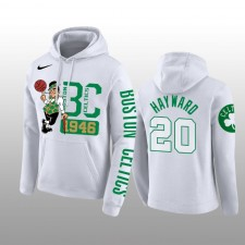 Boston Celtics &20 Gordon Hayward blanc Pullover Hoodie Hommes