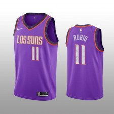 Ricky Rubio 19-20 Phoenix Suns Nike Hommes Purple City Edition Maillot