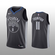 Klay Thompson 19-20 Golden State Warriors Nike Hommes Noir Statement édition Maillot