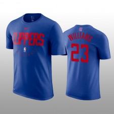 Hommes LA Clippers &23 Lou Williams Nike pratique légende représentation T-chemise - Royal