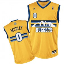 NBA Emmanuel Mudiay Swingman Men's Gold Jersey - Adidas Denver Nuggets &0 Alternate