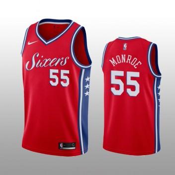 Hommes Philadelphia 76ers #55 Greg Monroe Rouge expression édition Maillot