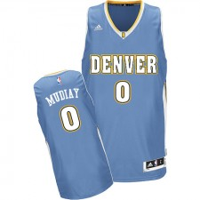 NBA Emmanuel Mudiay Swingman Men's Light Blue Jersey - Adidas Denver Nuggets &0 Road