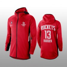 Houston Rockets - Sweat à capuche zippé performance complet James Harden - Rouge