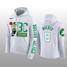 Sweat à capuche blanc Kemba Walker Boston Celtics Founding Time