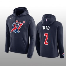 Sweat à capuche Washington Wizards pour homme, logo & 2 John Wall, équipe du club de marine