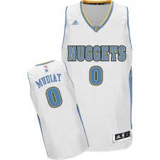 NBA Emmanuel Mudiay Swingman Men's White Jersey - Adidas Denver Nuggets &0 Home