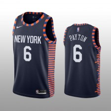 New York Knicks Elfrid Payton Navy Swingman City édition Maillot