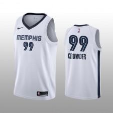 Hommes Memphis Grizzlies &99 Jae Crowder blanc Association édition Maillot