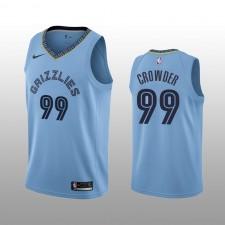Hommes Memphis Grizzlies &99 Jae Crowder bleu Statement édition Maillot