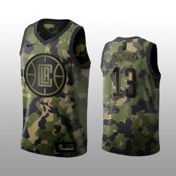 Los Angeles Clippers Paul George Vert Swingman Camouflage édition Maillot