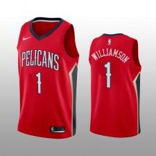 Pélicans & 1 de la Nouvelle-Orléans pour hommes Maillot Zion Williamson Rouge expression édition