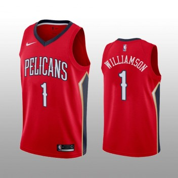 Pélicans # 1 de la Nouvelle-Orléans pour hommes Maillot Zion Williamson Rouge expression édition