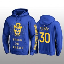 Sweat à capuche royal avec des tours ou des friandises Stephen Curry des Golden State Warriors