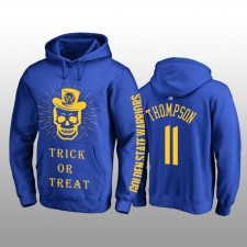 Sweat à capuche royal Halloween avec des tours ou des friandises de Klay Thompson Golden State Warriors