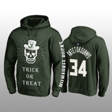 Giannis Antetokounmpo Milwaukee Bucks Hunter Vert Halloween Trick or Treat Pull à capuche