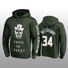 Giannis Antetokounmpo Milwaukee Bucks Hunter Vert Halloween Trick or Treat Pull à capuche