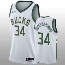 Milwaukee Bucks &34 Giannis Antetokounmpo Nike Swingman Blanc Hommes Maillot - Association Édition