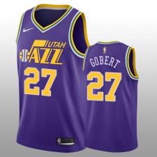 Maillot Swingman Fini Nike Rudy Gobert Utah Jazz violet pour bois dur