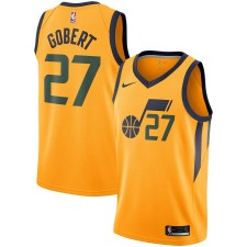 Maillot Nike Rudy Gobert Utah Jazz Gold Replica - Édition Statement