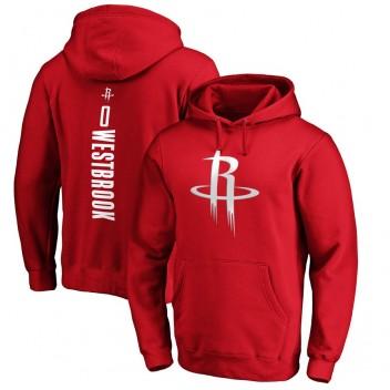 Fanatiques de marque Russell Westbrook Houston Rockets nom et numéro de la meneuse de jeu rouge Pull à capuche