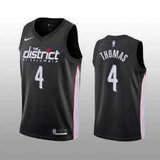 Maillot Isaiah Thomas Washington Wizards Noir City Edition pour hommes