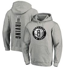 Kyrie Irving Brooklyn Nets Fanatics - Nom et numéro du créateur de jeu - Sweat à capuche - Gris chiné