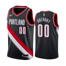 Maillot Carmelo Anthony Noir Icon Edition de Portland Trail Blazers