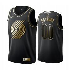 Maillot Carmelo Anthony Noir Golden Edition de Portland Trail Blazers