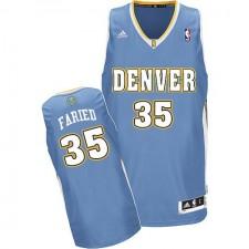 NBA Kenneth Faried Swingman Men's Light Blue Jersey - Adidas Denver Nuggets &35 Road
