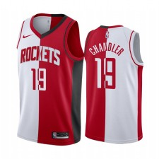 Houston Rockets Tyson Chandler Maillot Split Rouge Blanc