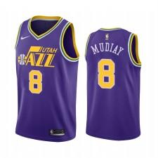 Utah Jazz Maillot Emmanuel Mudiay Purple Hardwood Classics
