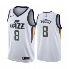 Utah Jazz Maillot Emmanuel Mudiay Blanc Association