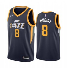Utah Jazz Maillot Emmanuel Mudiay Bleu Icon