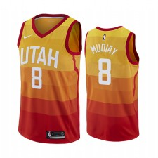 Utah Jazz Maillot Emmanuel Mudiay Orange City