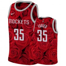 Maillot Homme Houston Rockets Kenneth Faried Rouge National Flower